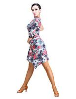 Latin Dance Tutus & Skirts Women's Performance Velvet Chiffon 1 Piece Skirts