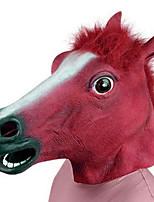 halloween novità creepy gomma animale mane cavallo testa maschera testa masquerade maschera cosplay mask party costume prop