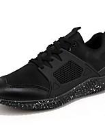 Для мужчин обувь Тюль Весна Лето Удобная обувь Кеды Шнуровка Назначение Повседневные Черный Серый Красный