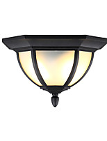 American Outdoor Balcony To Absorb Dome Light Outdoor Waterproof Moisture-Proof Hexagonal European Contracted Wrought Iron Balcony Terrace Black Lamp