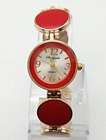 Per donna Orologio alla moda Orologio braccialetto Orologio casual Quarzo Lega Banda Puois Casual Oro rosa