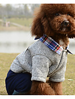 Dog Clothes/Jumpsuit Dog Clothes Casual/Daily Plaid/Check Red Gray