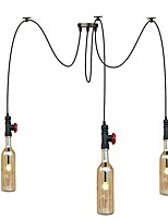 3 Heads 9W LED Warm Light American Country Retro Industrial Chandelier Living Room Restaurant Pendant Lights  Cafes Shops Light Fixture