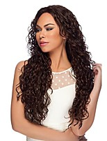 Women Human Hair Lace Wig Glueless Lace Front 180% 150% Density With Baby Hair Loose Wave Wigs Brazilian Hair Dark Brown Black Medium Long
