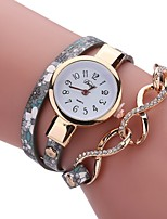 Per donna Orologio alla moda Orologio braccialetto Creativo unico orologio Cinese Quarzo PU Banda Vintage Ciondolo Casual classe Nero Blu