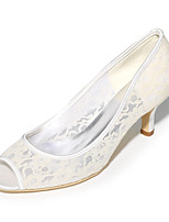 Da donna Scarpe Tulle Primavera Estate Decolleté scarpe da sposa A stiletto Punta aperta Per Matrimonio Serata e festa Nero Arancione Blu