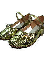 Women's Latin Sparkling Glitter Paillette Heel Practice Gold