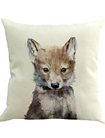 1 Pcs Cute Young Wolf Animal Printing Pillow Cover 45*45Cm Novelty Animals Pattern Pillow Case