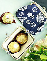 Cobalt Blue and White Coin Purse - Candy Favor Bag - 10 x 7.5 cm/pcs - Beter Gifts® Party Gifts Supplies