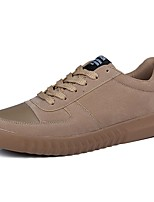 Men's Shoes PU Spring Fall Comfort Sneakers Lace-up For Casual Brown Gray Black