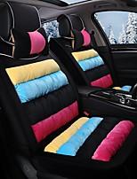 pantofola a righe arcobaleno ricoperta di copertura sedile invernale sedile auto seduto avvolto da un sedile nero