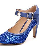 Femme Chaussures Dentelle Paillettes Soie Paillette Printemps Automne Escarpin Basique Chaussures de mariage Talon Cône Bout rond Boucle