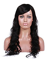 cheap -Remy Human Hair Lace Front Wig Brazilian Hair Curly Natural Wave With Baby Hair 130% Density African American Wig Women's Human Hair Lace