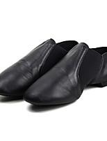 Kids' Jazz Cowhide Heel Training Low Heel Black Brown Customizable