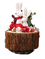 Music Box Toys Cartoon Plastics Wood 1 Pieces Not Specified Gift