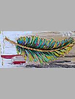 Peint à la main A fleurs/Botanique Format Horizontal,Abstrait Un Panneau Toile Peinture à l'huile Hang-peint For Décoration d'intérieur