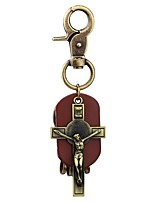 cheap -Keychains Jewelry Leather Alloy Cross Classic Fashion Christmas Street