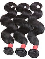Remy Burmese Natural Color Hair Weaves Body Wave Hair Extensions 3 Pieces Black