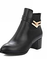 Feminino Sapatos Courino Outono Inverno Conforto Inovador Curta/Ankle Botas Salto Grosso Dedo Apontado Botas Curtas / Ankle Poa Para