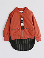 Girls' Solid Jacket & Coat,Cotton Spring Fall Long Sleeve