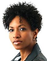 Femme Perruque Synthétique Sans bonnet Court Très Frisé Afro Noir Perruque afro-américaine Perruque de Cosplay Perruque Naturelle