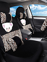 Cartoon Plush Car Seat Cushion Seat Cover Seat In Autumn And Winter Surrounded By A Five Seat-Leopard