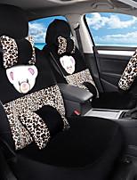 Karikatur Plüsch Auto Sitz Kissen Sitz Sitz Sitz im Herbst und Winter umgeben von einem fünf Sitz-Leoparden