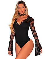 Ultra Sexy Vêtement de nuit Femme,Dentelle Broderie Polyester Spandex