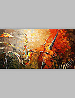 Hand-Painted Abstract Horizontal Panoramic,Artistic Abstract Cool One Panel Canvas Oil Painting For Home Decoration