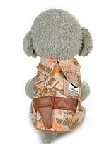 Cane Gilè Abbigliamento per cani Casual Geometrico Giallo