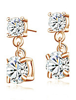 Women's Drop Earrings AAA Cubic Zirconia Bohemian Gold Plated Jewelry For Party Birthday Daily Office & Career