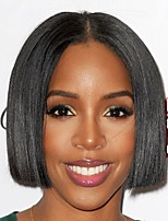 Women Human Hair Lace Wig Brazilian Remy Lace Front 180% Density Bob Haircut Straight Wig Black Short For Black Women