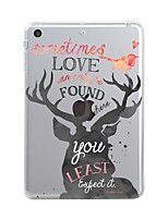 cheap -For iPad (2017) Case Cover Transparent Pattern Back Cover Case Christmas Soft TPU for Apple iPad (2017) iPad Pro 12.9'' iPad Pro 9.7''