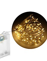 4.5V 10M 100leds LED Silver wire Strip Light 3 AA Battery Operated Fairy Lights Garlands Christmas Holiday Wedding Party Not include batteries 1pcs