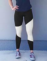Women's Medium Stitching Legging,Color Block