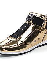 preiswerte -Herrn Schuhe Kunstleder Lackleder Frühling Herbst Komfort Sneakers für Normal Büro & Karriere Gold Schwarz Silber