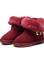 Girls' Shoes Feather/ Fur Leather Winter Fur Lining Fluff Lining Comfort Snow Boots Boots Booties/Ankle Boots Tassel(s) Tassel For