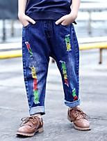 Jeans Da ragazzo Cotone Elastene Tinta unita Primavera Autunno