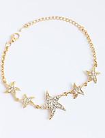 Femme Fille Chaînes & Bracelets Bracelets de tennis Strass Personnalisé Strass Alliage Forme d'Etoile Bijoux Pour Anniversaire Quotidien