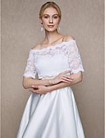 Estolas Femininas Boleros Renda Casamento Festa/Noite Botões Renda