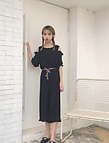 Women's Going out Vintage Summer Blouse Pant Suits,Solid Boat Neck Short Sleeve Micro-elastic