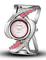 Women's Fashion Watch Simulated Diamond Watch Unique Creative Watch Chinese Quartz Alloy Band Bangle Casual Black White Blue Red Pink