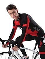 Cycling Jersey with Tights Men's Long Sleeves Bike Clothing Suits Quick Dry Stretchy Breathability Fashion Autumn/Fall Running/Jogging