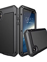 Til iPhone X iPhone 8 Plus Etuier Vand / Dirt / Shock Proof Heldækkende Etui Rustning Hårdt Metal for Apple iPhone X iPhone 8 Plus iPhone