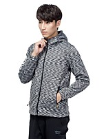 Men's Hiking Fleece Jacket Quick Dry Windproof Rain-Proof Stretchy Waterproof Single Slider Top for Running/Jogging Climbing Traveling