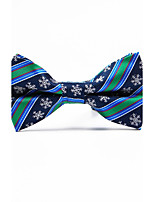 Men's Polyester Bow Tie,Striped Jacquard All Seasons