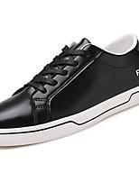 Da uomo Scarpe PU (Poliuretano) Primavera Autunno Comoda Sneakers Lacci Per Casual Bianco Nero Rosso