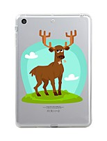 Назначение iPad (2017) Чехлы панели Прозрачный С узором Задняя крышка Кейс для Рождество Мягкий Термопластик для Apple iPad (2017) iPad