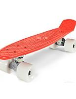 22,5 pouces Planches à roulettes complètes Professionnel Plastique ABEC-5-Rouge Couleur Pleine