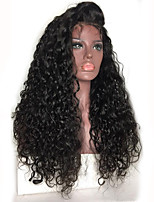 Kinky Curly Lace Front Wig Brazilian Human Hair Wigs 130% Density Natural Color Hair With Baby Hair For Women